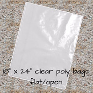 "18"" x 24"" Clear Poly Bags"