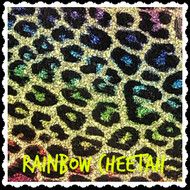 Rainbow Cheetah Vinyl - Sheet