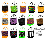 Sweet n Sassy EXCLUSIVE Halloween Bucket Totes