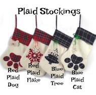 Plaid Christmas Stockings
