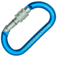 Kong Oval Aluminum Classic Screw Cyan/Polished/Polished