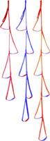 PMI® 6 Step Etrier Orange w Blue 6'