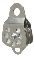 "CMI RP105D 3"" Stainless Steel with Becket Double Pulley (Bushing)"