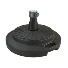 Black umbrella base
