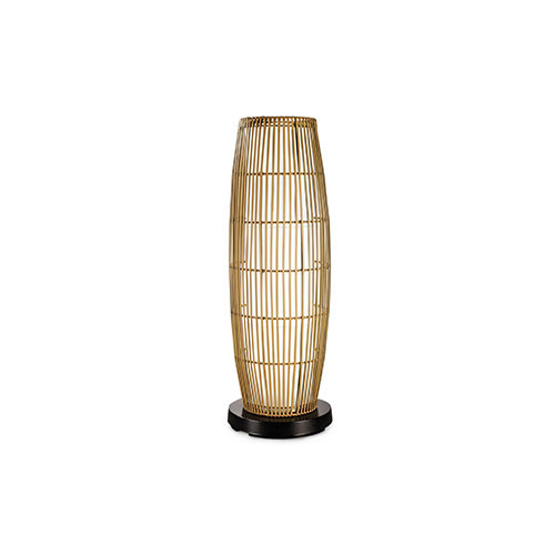 Patioglo Electric Floor Table Lamp Color Changing Led With Bamboo Cover Patio Living Concepts