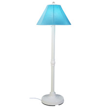 "San Juan 60"" Floor Lamp - White Base with Canvas Aruba Sunbrella Fabric Lamp Shade"