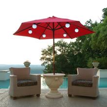 Solar Powered White LED Globe String & Umbrella Lights - 6 Globes