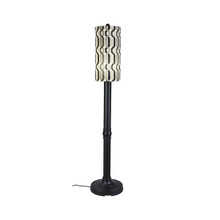 "Coronado 70"" Floor Lamp - Black Base with New Twist Caviar Outdoor Pattern Fabric Lamp Shade"