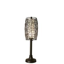 "Bristol 42"" Table Lamp with Walnut Sunbrella Fabric Lamp Shade"