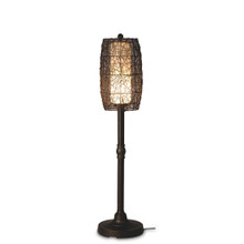 "Bristol 58"" Floor Lamp with Walnut Sunbrella Fabric Lamp Shade"
