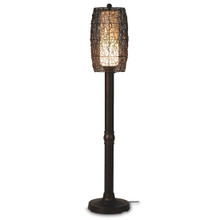 "Bristol 70"" Floor Lamp with Walnut Sunbrella Fabric Lamp Shade"