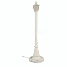 Cambridge Single Lantern Patio Lamp - White Base