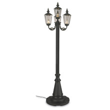 Cambridge Four Lantern Park Style Patio Lamp - Black Base