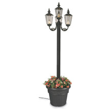 Cambridge Four Lantern Park Style Planter Lamp - Black Base