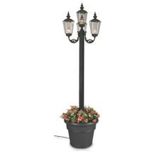 Cambridge Four Lantern Park Style Planter Lamp - Black Base