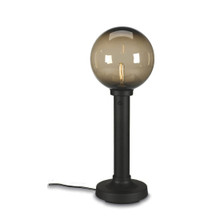 Moonlite Electric Table Lamp - Black Body with Bronze Globe