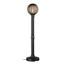 Moonlite Electric Floor Lamp - Black Body with Bronze Globe