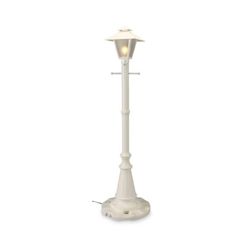 Cape Cod Electric Patio Lamp with white texture finish