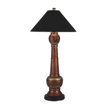 Phoenix Floor Lamp - Copper Base with Canvas Black Sunbrella Fabric Lamp Shade