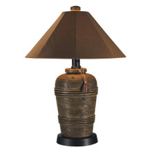 Canyon Table Lamp - With Canvas Nutmeg Sunbrella Fabric Lamp Shade