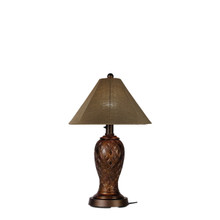 Monterey Table Lamp - Antique Bronze Base with Linen Sesame Sunbrella Fabric Lamp Shade