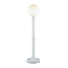 Moonlite Electric Floor Lamp - White Body with White Globe