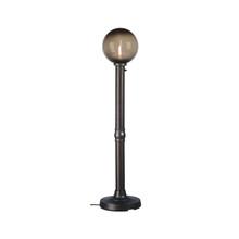 Moonlite Electric Globe Floor Lamp with bronze globe and black lamp finish