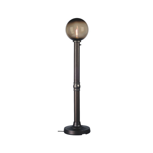 Moonlite Electric Globe Floor Lamp with bronze globe and black lamp finish