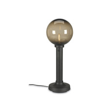 Moonlite Electric Globe Table Lamp with bronze globe and black lamp base