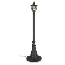 Cambridge Single Lantern Patio Lamp - Black Base