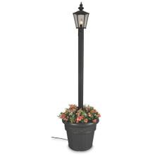 Cambridge Single Lantern Planter Lamp - Black Base