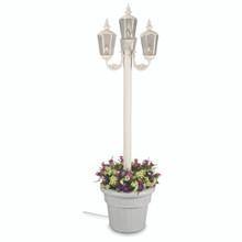 Cambridge Four Lantern Park Style Planter Lamp - White Base