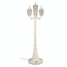 Cambridge Four Lantern Park Style Patio Lamp - White Base