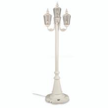 Cambridge Four Lantern Park Style Patio Lamp - White Base