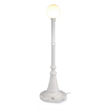 Milano Patio Lamp - White Base with White Globe