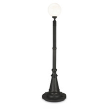 Milano Patio Lamp - Black Base with White Globe