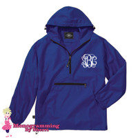 Charles River Pack N Go Pullover (Royal)