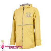 Charles River Women's New Englander Rain Jacket (Buttercup)