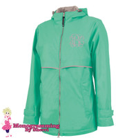 Charles River Women's New Englander Rain Jacket (Mint)