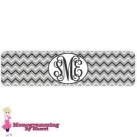 Grey & White Mini Chevron Cuff Bracelet
