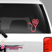 Stethoscope Car Decal FREE SHIPPING