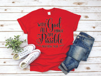 Our beautiful screen printed tee tells you about Gods love! Our tees are unisex and are true to size.