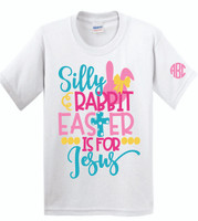 Happy Easter!  Our digitally imprinted shirts are unisex and run true to size!  XS is size 4-5, small 6-8, med 10-12, large 14-16.