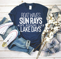 Another day on the lake! Unisex shirts and true to size.  Beautifully screen printed.