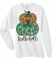 HAPPY FALL!  This is a digitally imprinted and is printed on a white, silver, or heather gray shirt unisex long sleeve shirt. These shirts are not fitted and run true to size.!