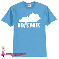 State Home with Initials T-Shirt