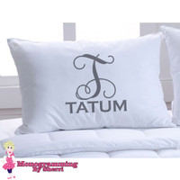 Pillowcase Last Name with Initial