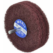 "Merit Abrasives - Buffing Wheel - 4"" dia 3 Ply Medium Abrasotex Disc Wheel"