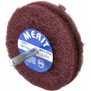 "Merit Abrasives - Buffing Wheel - 3"" dia 2ply Vfine Abrasotex Disc Wheel"