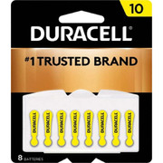 Duracell® - Batteries - Da10b8 Size 10 1.4v 8/pk Zinc Air Hearing Aid Battery - PK of 8